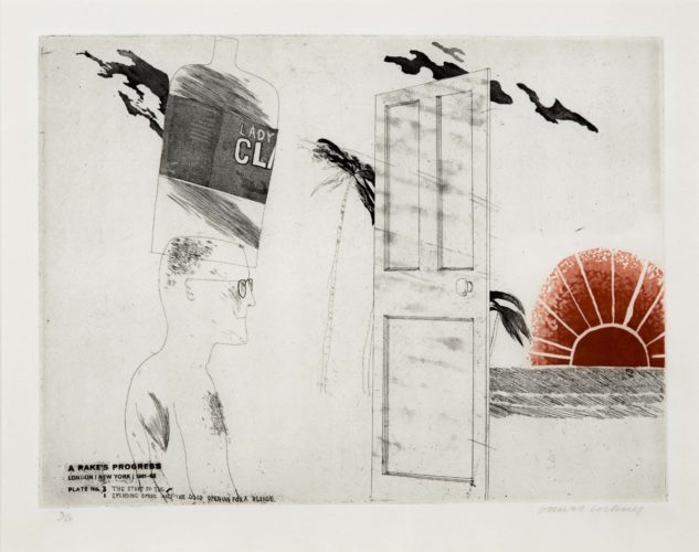 The Start of the Spending Spree…, from A Rake's Progress by David Hockney at