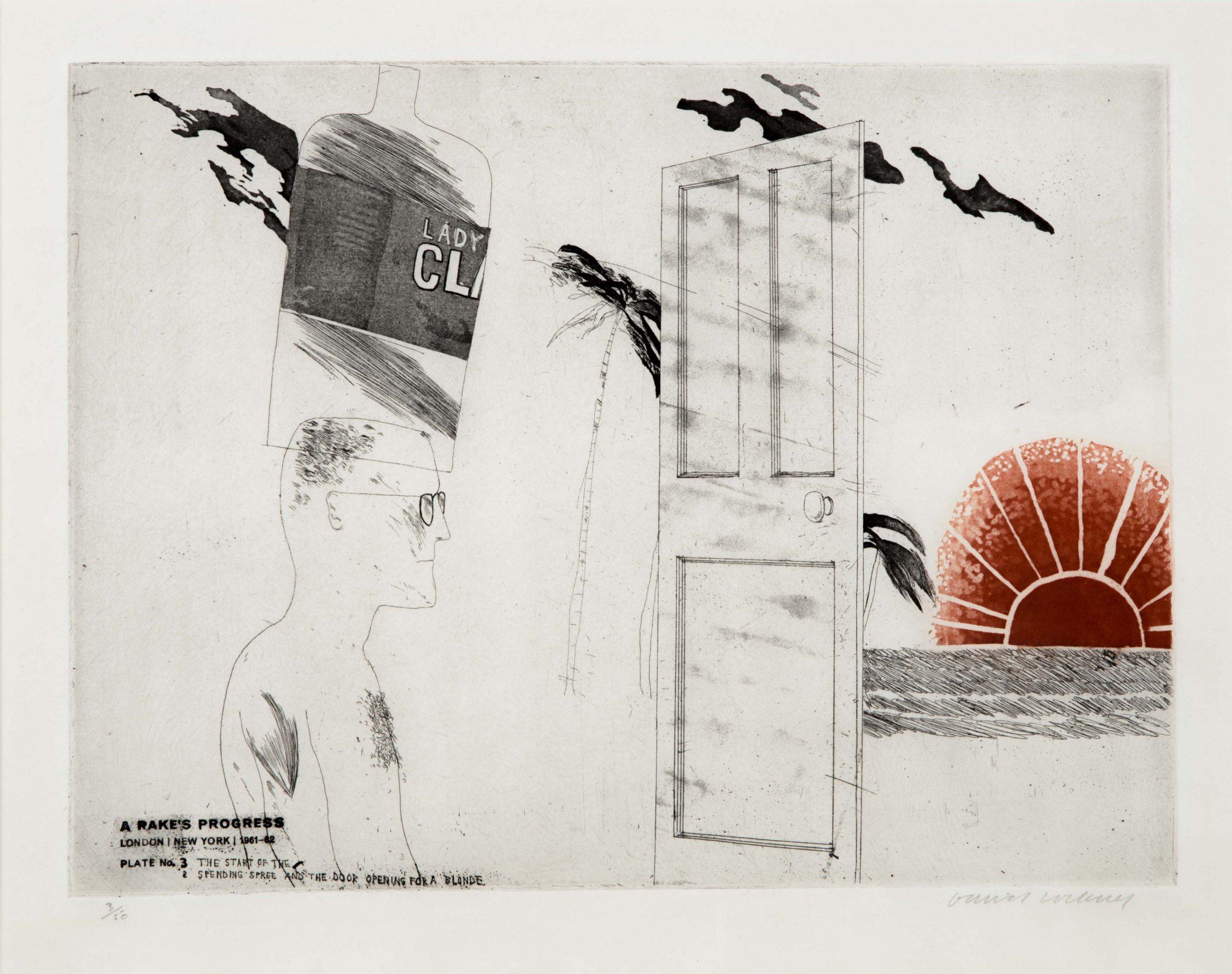The Start of the Spending Spree…, from A Rake's Progress by David Hockney