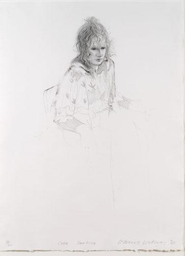 Celia Smoking by David Hockney at Leslie Sacks Gallery (IFPDA)
