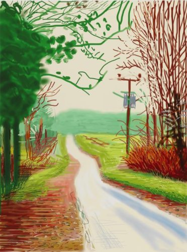 The Arrival of Spring in Woldgate, East Yorkshire in 2011 (twenty eleven) – 23 Feburary 2011 by David Hockney at David Hockney