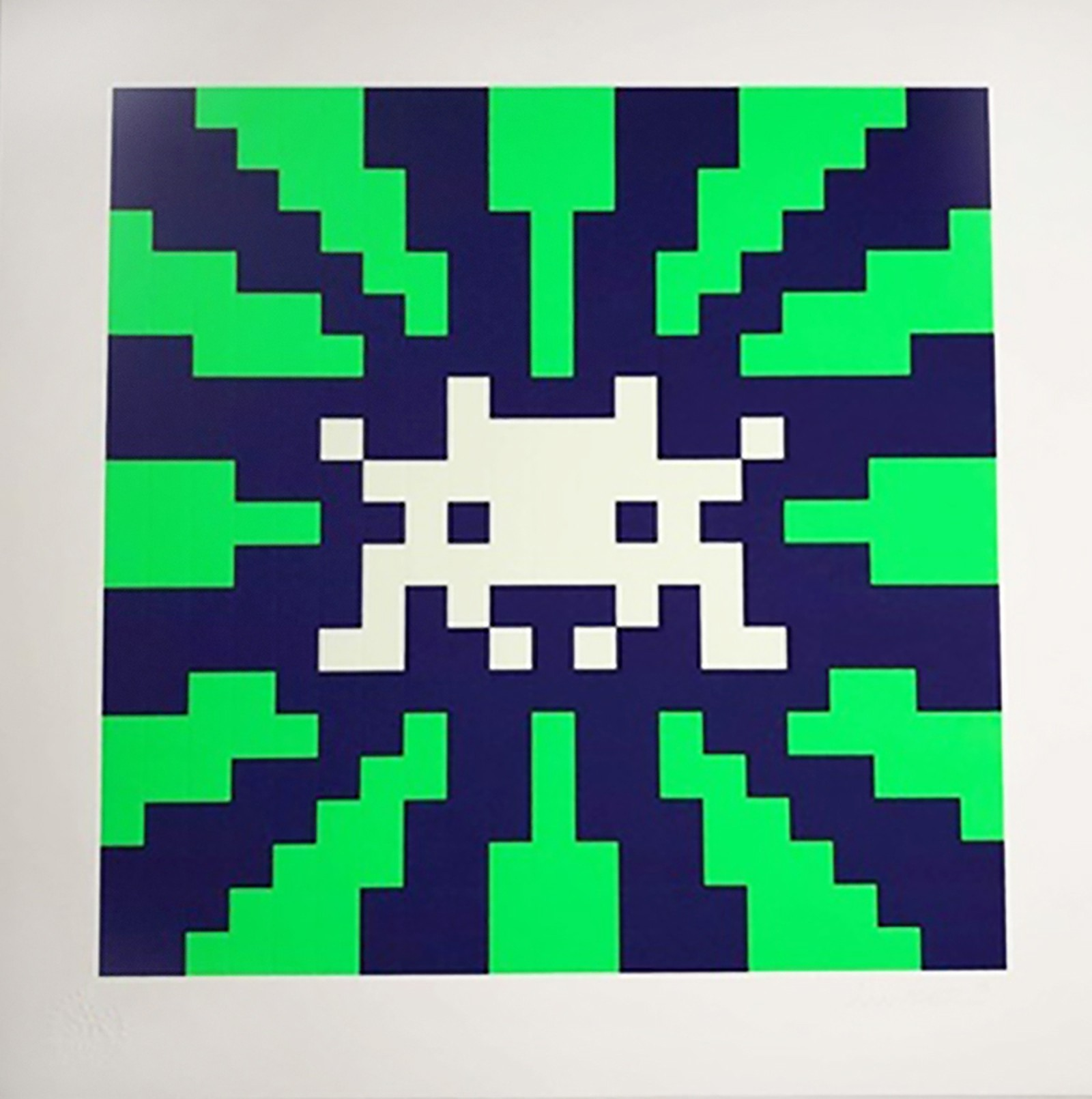 Sunset (Blue & Green Gid) by Invader
