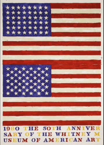 Two Flags (Whitney Anniversary) by Jasper Johns at Leslie Sacks Gallery (IFPDA)