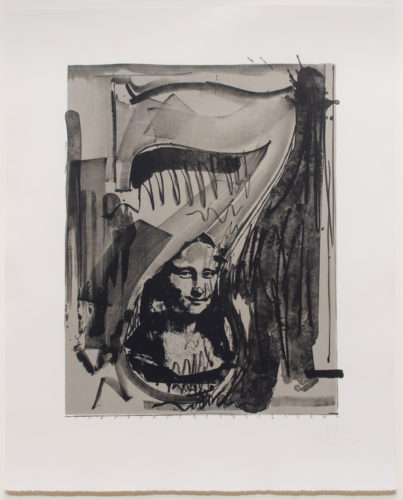 Figure 7, from the Black Numerals by Jasper Johns at Leslie Sacks Gallery (IFPDA)