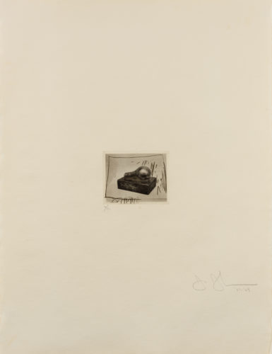 Light Bulb (Small), 1st Etchings, 2nd State by Jasper Johns at Leslie Sacks Gallery (IFPDA)