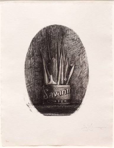 Savarin 4 (Oval) by Jasper Johns at Leslie Sacks Gallery (IFPDA)