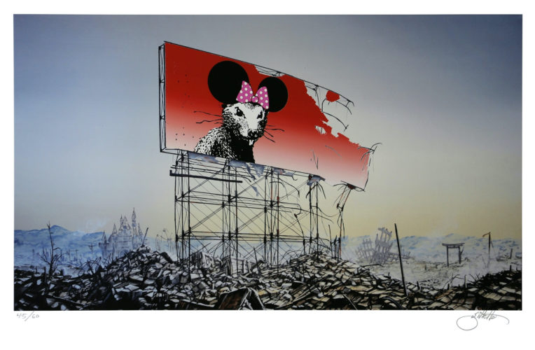 Banksy Minnie Nagasaki by Jeff Gillette