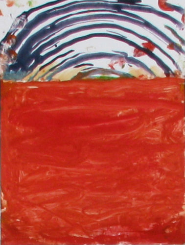 Landscape Red by Katherine Bradford at