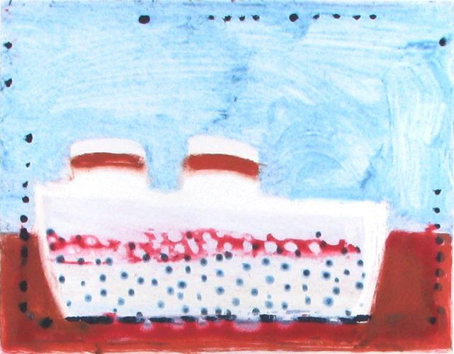 Steamboat USA Light Blue by Katherine Bradford at