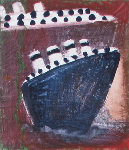 Steamboats Blue & Brown by Katherine Bradford at
