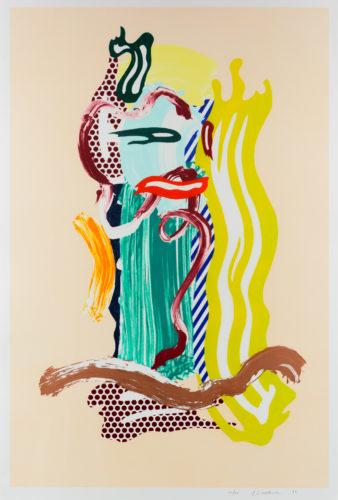 Portrait, from Brushstroke Figures series by Roy Lichtenstein at Leslie Sacks Gallery (IFPDA)