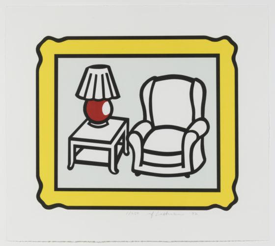 Red Lamp by Roy Lichtenstein at Leslie Sacks Gallery (IFPDA)
