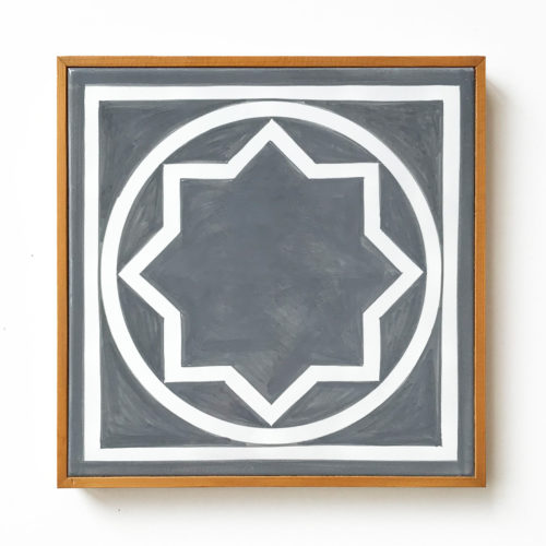 Ceramic Wall Tile (Grey) by Sol LeWitt at