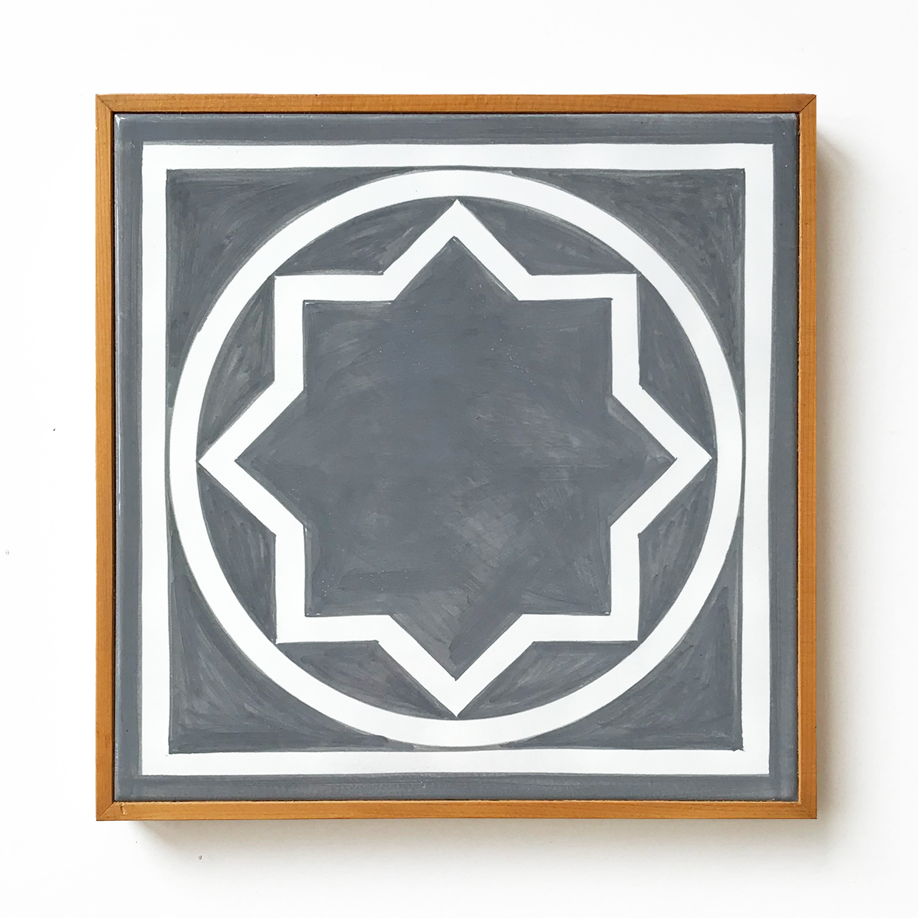 Ceramic Wall Tile (Grey) by Sol LeWitt