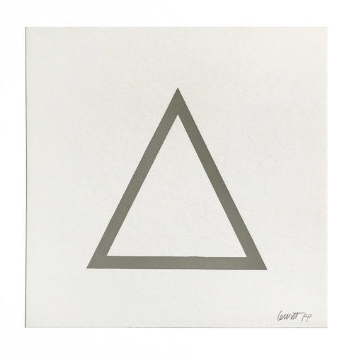 Grey Triangle (from Geometric Figures) by Sol LeWitt