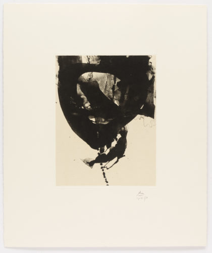 Nocturne VIII, from Three Poems by Octavio Paz by Robert Motherwell at Leslie Sacks Gallery (IFPDA)