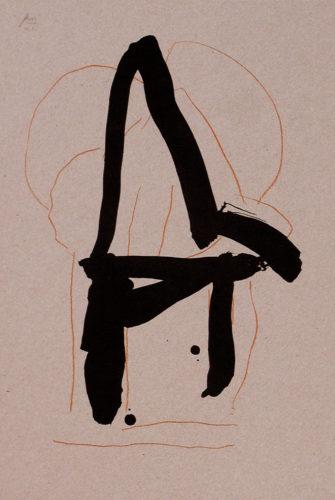 Beau Geste IV by Robert Motherwell at Leslie Sacks Gallery (IFPDA)