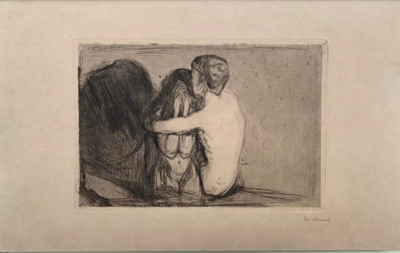 Trøst (Consolation) by Edvard Munch at