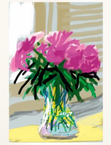 My Window. Art Edition (No. 1–250), iPad drawing 'No. 535', 28th June 2009 by David Hockney at David Hockney