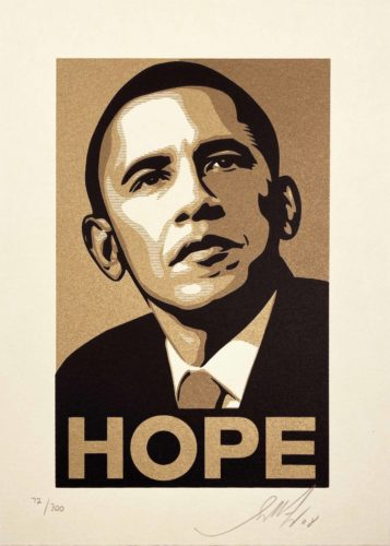 Obama Hope Gold by Shepard Fairey