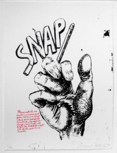 Untitled by Raymond Pettibon at Leslie Sacks Gallery (IFPDA)