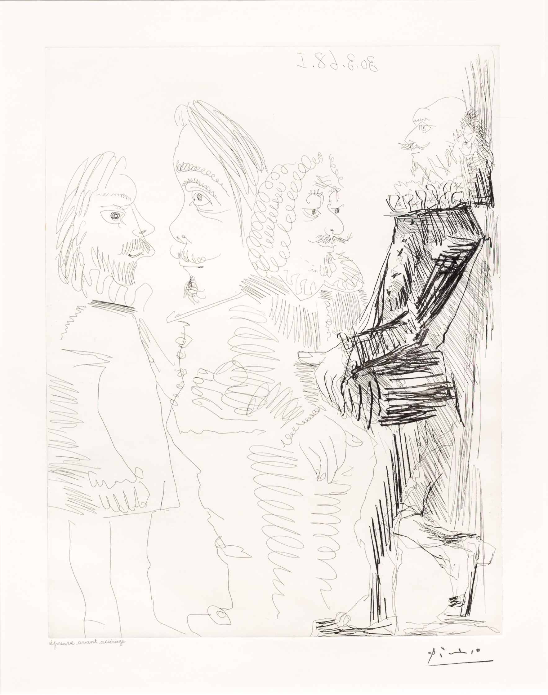 Quatre Hommes en Costume…, from the 347 Series by Pablo Picasso