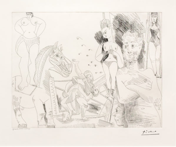 Cirque et Catch, from the 347 Series by Pablo Picasso at Leslie Sacks Gallery (IFPDA)