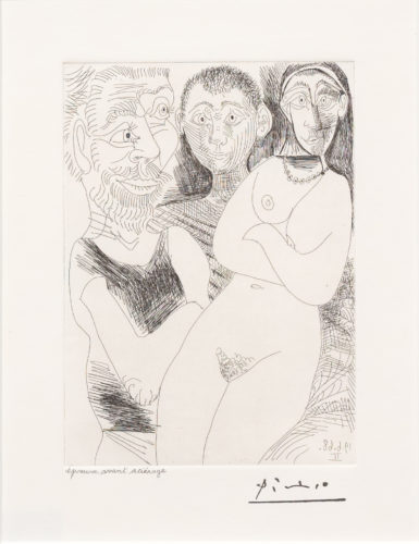 Prostitutee et Marins, from the 347 Series by Pablo Picasso at