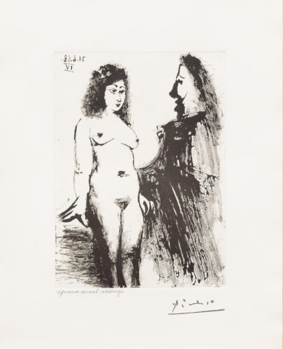 Jeune Prostitutee et Mousquetaire, from the 347 Series by Pablo Picasso at