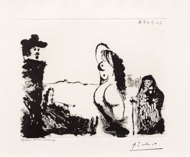 Un Dejeuner sur l'Herbe Rembranesque…, from the 347 Series by Pablo Picasso at Leslie Sacks Gallery (IFPDA)