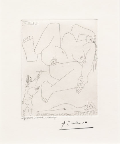 La Demesure du Peintre, from the 347 Series by Pablo Picasso at Leslie Sacks Gallery (IFPDA)