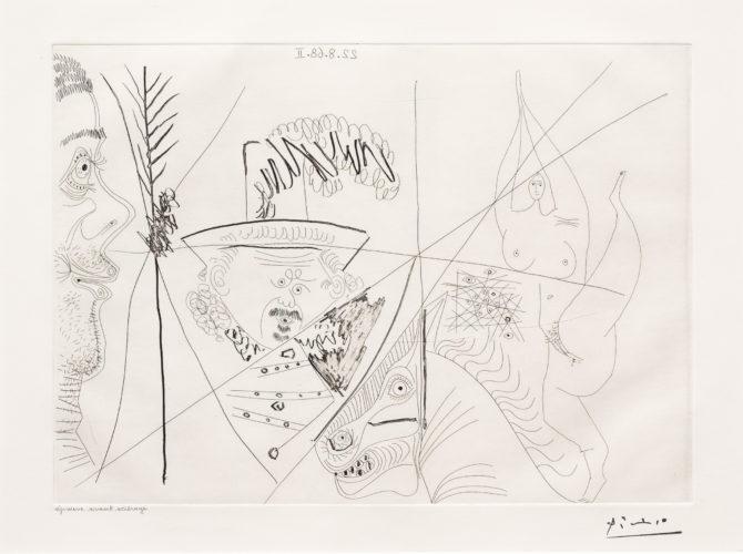 Ecuyere de Cirque…, from the 347 Series by Pablo Picasso at Leslie Sacks Gallery (IFPDA)