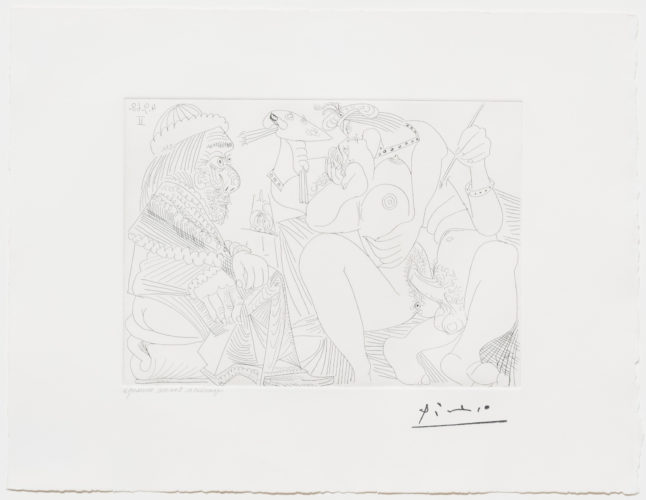 Raphael et la Fornarina XVI…, from the 347 Series by Pablo Picasso at