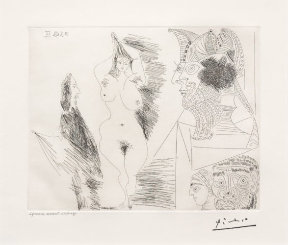 Jeune Femme et Gentilhomme…, from the 347 Series by Pablo Picasso at