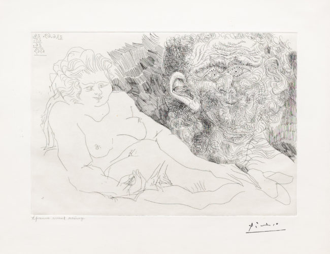 Vieux Peintre et Vieux Modele, from the 156 Series by Pablo Picasso at