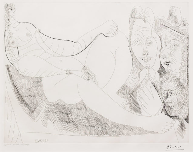 Femme au Lit avec Visiteurs…, from the 156 Series by Pablo Picasso at