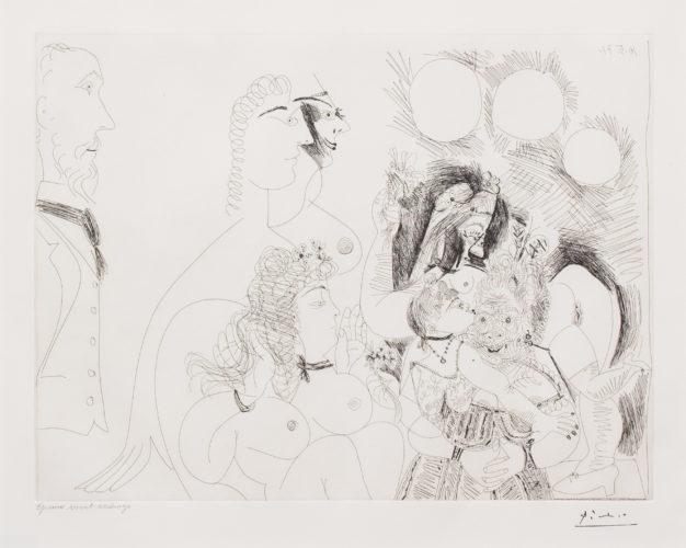 La Fete de la Patronne…, from the 156 Series by Pablo Picasso at