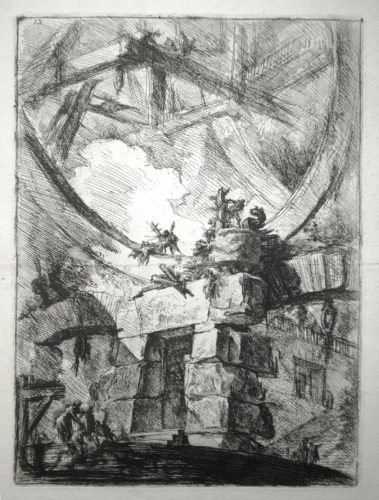 The Giant Wheel (2nd State) by Giovanni Battista Piranesi at