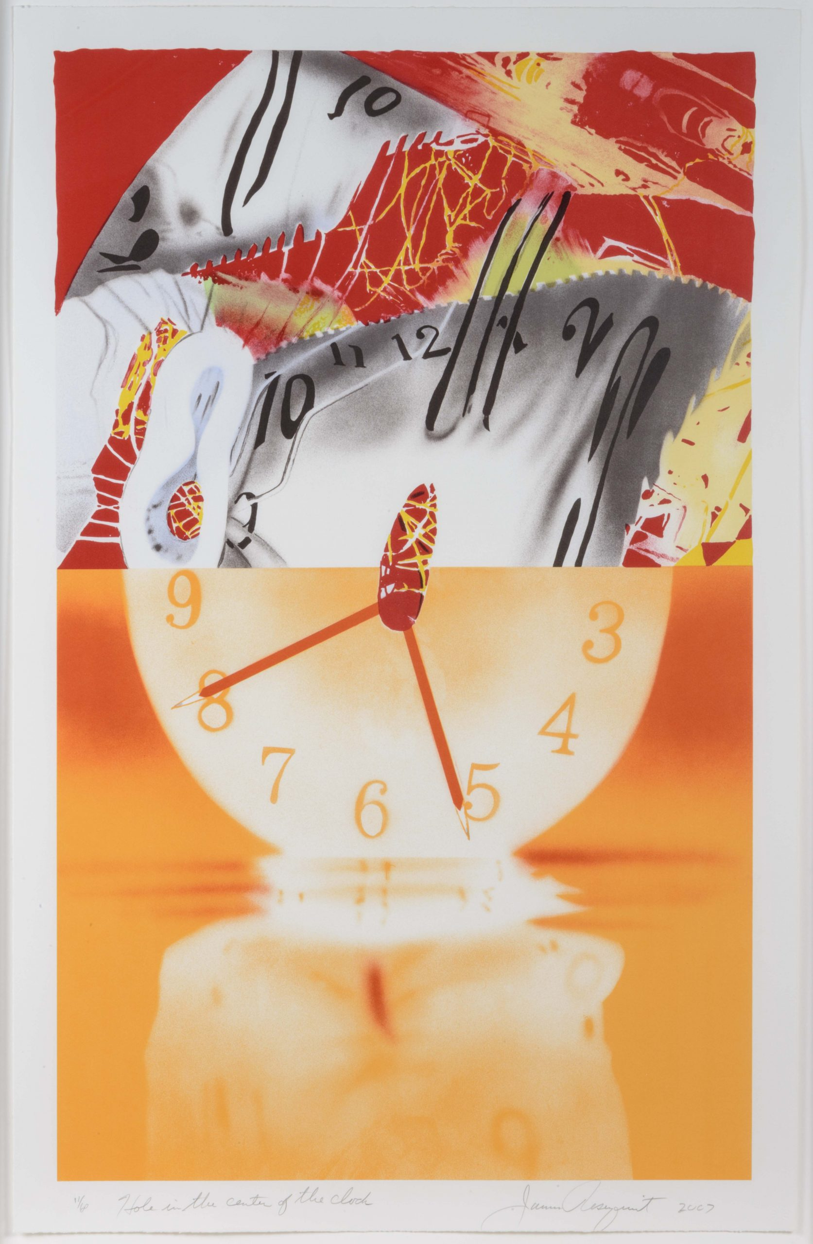 The Hole in the Center of the Clock by James Rosenquist