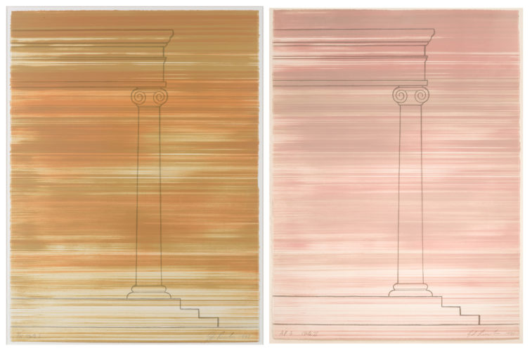 Roadrunner, State I and State II by Ed Ruscha at