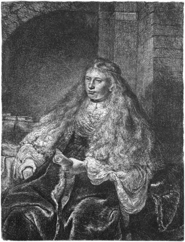 The Great Jewish Bride by Harmensz van Rijn Rembrandt at