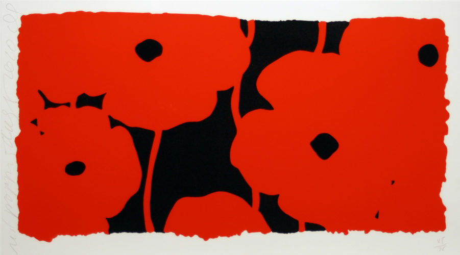 Eight Poppies by Donald Sultan at Donald Sultan