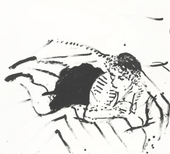 Big Celia Print #2 by David Hockney