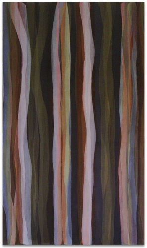 """Brushstrokes in Different Colors in Two Directions"" #1 by Sol Lewitt"