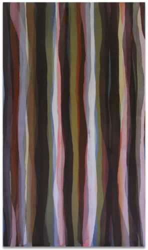 """Brushstrokes in Different Colors in Two Directions"" #2 by Sol Lewitt"