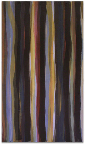 """Brushstrokes in Different Colors in Two Directions"" #3 by Sol Lewitt"
