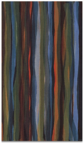 """Brushstrokes in Different Colors in Two Directions"" #4 by Sol Lewitt"
