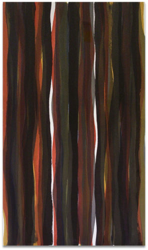 """Brushstrokes in Different Colors in Two Directions"" #5 by Sol Lewitt"