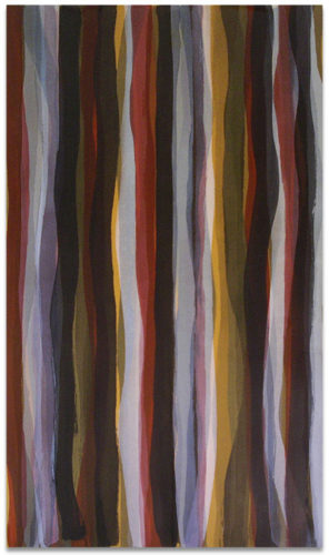 """Brushstrokes in Different Colors in Two Directions"" #6 by Sol Lewitt"