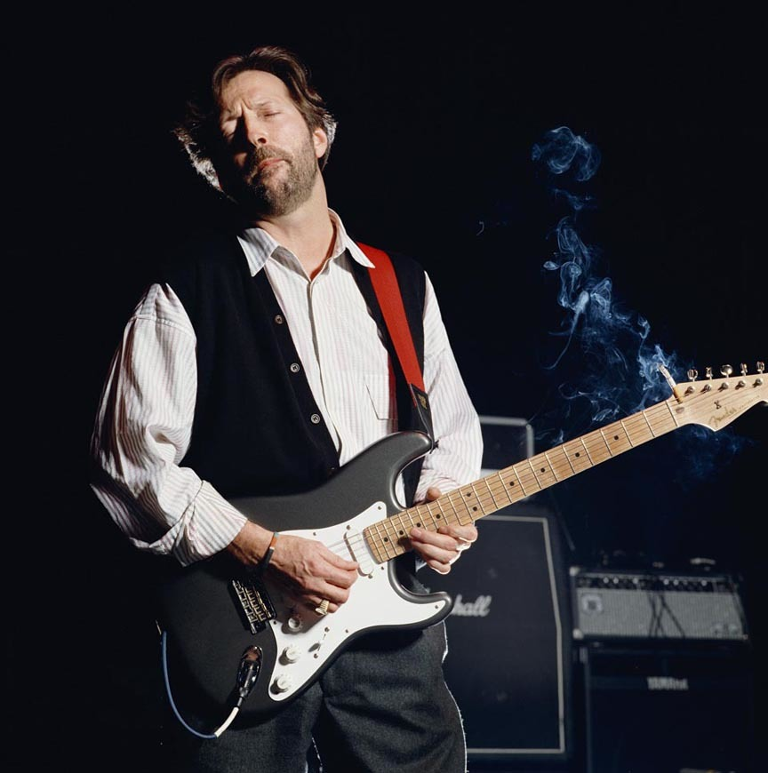 Eric Clapton, color by Terry O'Neill