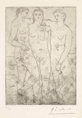 Les Trois Baigneuses Ii by Pablo Picasso